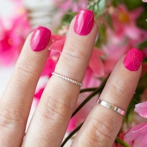 2/$20 color street nails Hotlanta solid flamingo